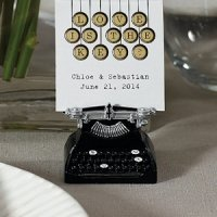 Vintage Typewriter Place Card Holders - Set of 6