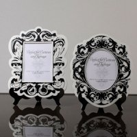 Baroque Paper Frames With Table Easels (Black or Gold)