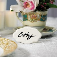 Ceramic Reusable Place Markers - Set of 8