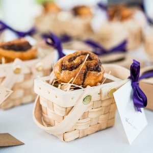 Miniature Woven Country Picnic Basket Favors image