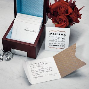 Wedding Wishes Note Card Set - Pack of 50 image