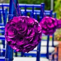 Wood Curls Floral Pomander Ball (2 Sizes - 8 Colors)
