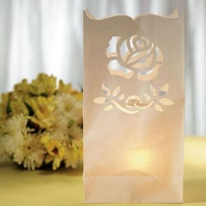 Rose Die Cut Luminary Bags (Set of 12) image