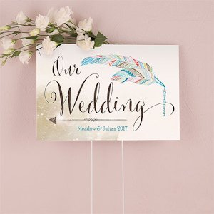 Feather Whimsy Directional Sign image