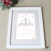 Homespun Charm Custom Framed Signing Certificate (3 Colors)