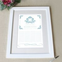 Personalized Coat of Arms Framed Certificate (4 Colors)