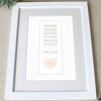 Personalized 'From This Day' Framed Certificate (8 Colors)
