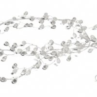 Crystal & Silver Wire Decorative Garland