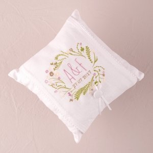 Natural Charm Simply Sweet Personalized Ring Pillow image