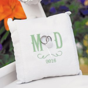 Simply Sweet Vineyard Monogram Ring Bearer Pillow image