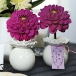 'Pretty Petals' Mini Flower Wedding Favor Vases (Set of 4)
