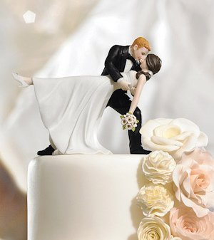 Romantic Dip Couple Cake Topper (Color Options) image