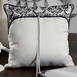 Love Bird Damask Ring Pillow image