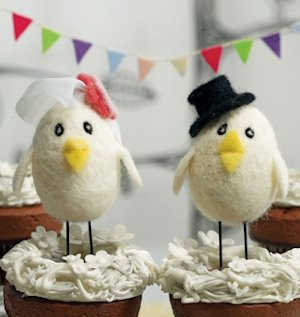 Sweet Tweets Bird Bride and Groom Topper image