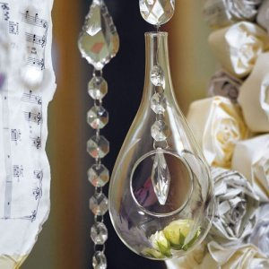 Large Blown Glass Teardrop Vases (Set of 2) image