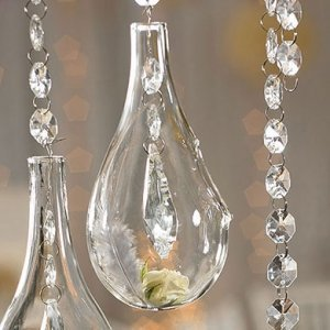 Small Blown Glass Teardrop Vases (Set of 4) image