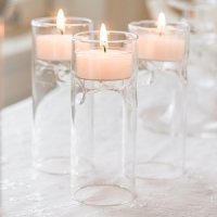Blown Glass Miniature Tealight Luminaries (Set of 4)