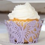 Butterfly Filigree Cupcake Wrappers (Set of 12 - 4 Colors)
