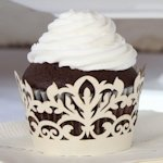 Damask Wedding Cupcake Wrappers (Set of 12 - 4 Colors)