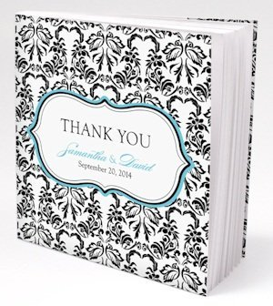 Live Bird Damask Notepad Favors (Set of 12) image