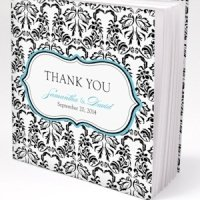 Love Bird Damask Notepad Favors (Set of 12)