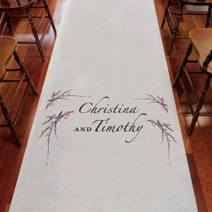 Personalized Cherry Blossom Aisle Runner (3 Colors) image