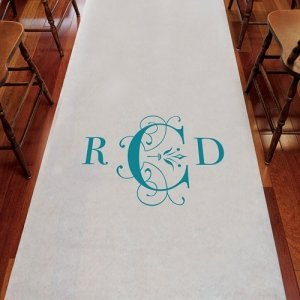 Monogram Aisle Runner - Classic Deco Design (4 Colors) image