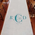 Monogram Aisle Runner - Classic Deco Design (4 Colors)