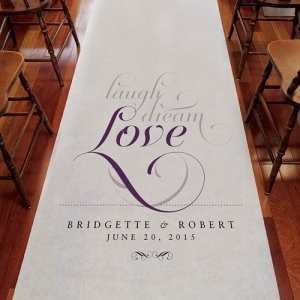 Personalized Expressions Aisle Runner (8 Colors) image