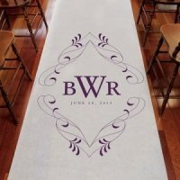 Flourish Monogrammed Aisle Runner (8 Colors)