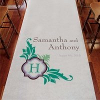 Lavish Monogram Custom Aisle Runner (Many Colors)