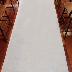 White Semi-Sheer Cloth Aisle Runner image