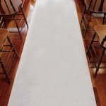 White Semi-Sheer Cloth Aisle Runner