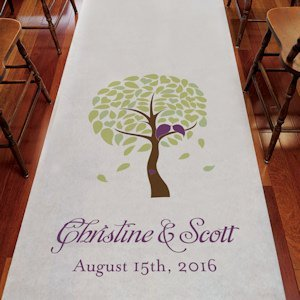 Love Bird Tree Custom Wedding Runners (4 Colors) image