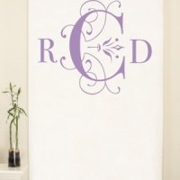 Personalized Classic Monogram Photo Backdrop (4 Colors)