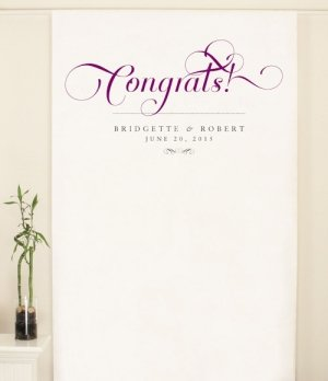Personalized Expressions Photo Backdrop (8 Colors) image