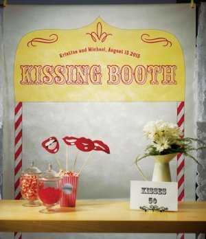 Kissing Booth Personalized Photo Backdrop image