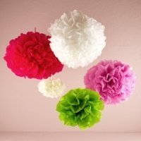 Tissue Paper Flowers (5 Colors - 4 Sizes)