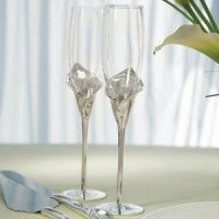 Personalized Calla Lily Toasting Flutes