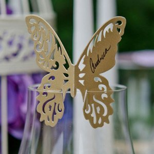 Laser Expressions Shimmer Butterfly Die Cut Card (4 Colors) image