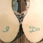 'I Do' Shoe Talk In Blue Pearls And Crystals