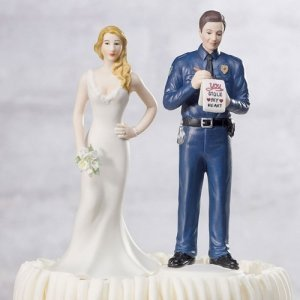 Love Citation Policeman Groom Mix and Match Cake Topper image