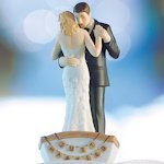 Row Away Wedding Couple in Rowboat Figurine (Color Options)