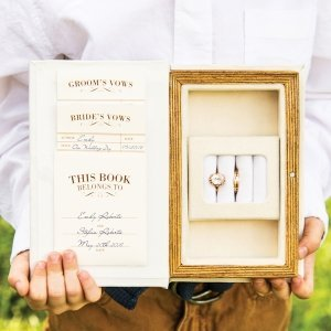 'A Promise Made' Vintage Inspired Vow & Ring Box image