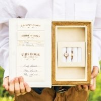 'A Promise Made' Vintage Inspired Vow & Ring Box