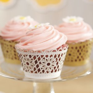 Floral Art Deco Filigree Cupcake Wrappers (Set of 12) image