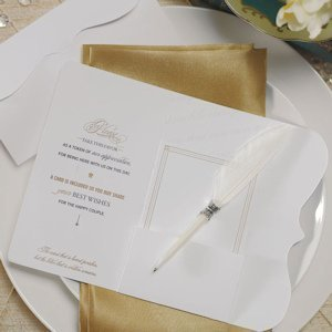 'Love Letters' Feather Pen Favor image