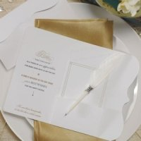 'Love Letters' Feather Pen Favor
