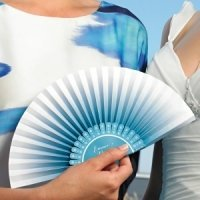 Ombre Color Accordion Paper Hand Fan (Set of 6) - 3 Colors