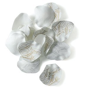 Mr. and Mrs. Printed Silk Wedding Flower Petals image